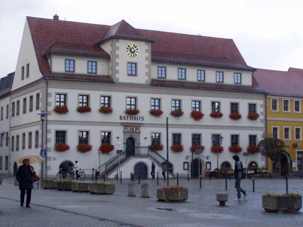 Hoyerswerda Rathaus Uhr